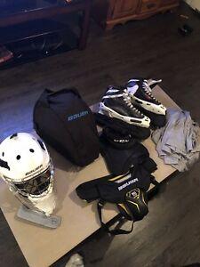 Senior men's XL Goalie gear