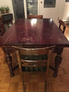 Solid Wood Antique Dining Table