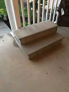 Free patio stones and stairs