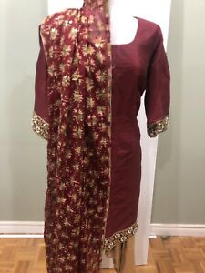 Red Stitched Indian Suit