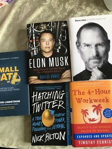 Biography's, tech and self help books