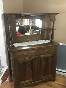 Antigue Sideboard with Mirror