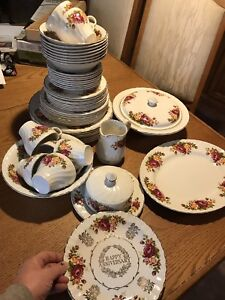 Cottage Rose dishes from Wood&Sons England