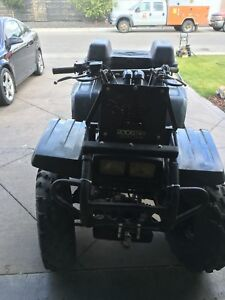 A 1998 Yamaha Big Bear 350 4x4 quad