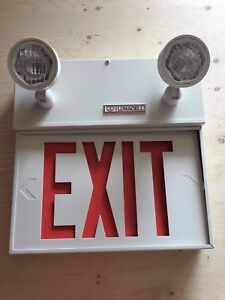 Lumacell Exit Signs with Emergency Lighting & Battery Backup