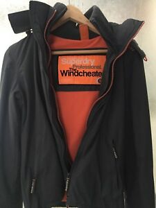 Womens Super Dry Hooded Polar Windcheater Coat Sz S