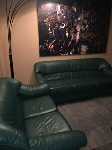 Premium leather couches (two pieces)