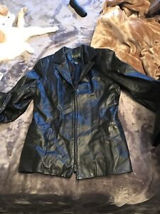 2 ladies Fall Leather Coats size medium