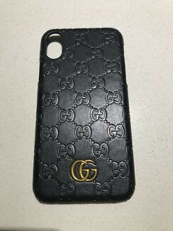 Gucci leather look iPhone X hard case