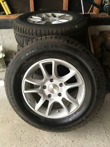 P235 70R16 Falken Euro Winter Tire Mounted on  Aluminum Wheels.