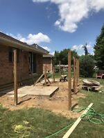 Fence construction and post holes
