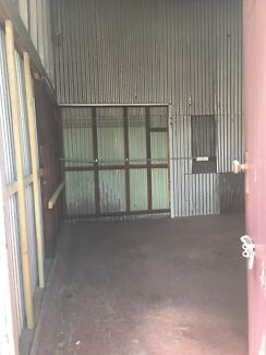 Industrial unit with toilet