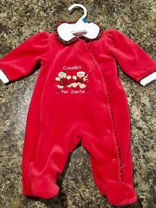 ~Cookies for Santa Sleeper, size 0-3 months - $5~