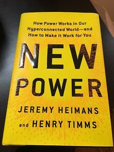 New Power - hard cover book for sale!