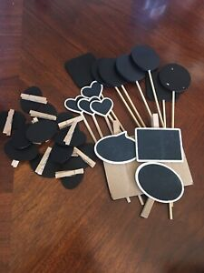 Chalkboard tags and signs