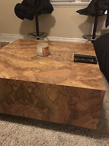 Laminate coffee table and 2 matching end tables