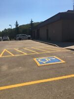 Line painting and parking lot sweeping
