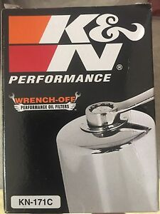 KN-171C High Performance Chrome Oil Filter Harley Davidson Buell Ingle Farm Salisbury Area Preview