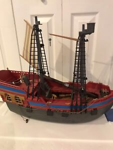 Mega bloks pirate ship with pieces and instructions