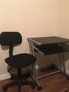 Desk and chair for sale, $25.00, like new.