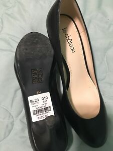 Le chateau leather heels - size 8
