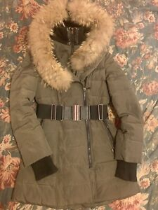 Down Puffer Coat With Fur