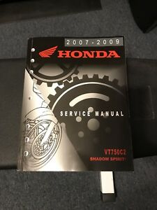 Honda Service Manual - 2007-2009 Honda Shadow Spirit 750