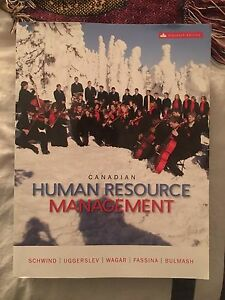 Canadian Human Resource Management 11th edition by Schwind