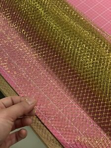 Gold mesh wrapping paper