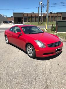 2005 Infiniti G35 Coupe Fully Loaded! Sports Car! Very Low KM!