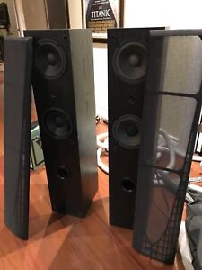 Sony tower speakers haute parleurs  - broken