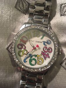 Betsey Johnson silver women's watch