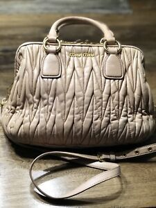 475279620e7 Miu Miu Matelassé Quilted Lambskin crossbody   top handle  2500