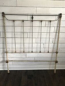 Antique Vintage Iron Bed Headboard French Country