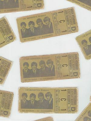One BEATLES concert REPLICA ticket stub SHEA STADIUM August 23, 1966 New York