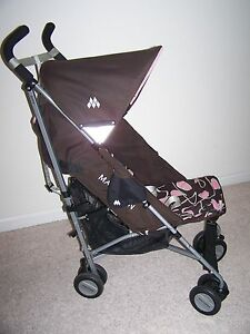 maclaren quest umbrella stroller pink coffee brown ebay. Black Bedroom Furniture Sets. Home Design Ideas