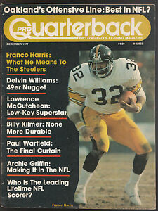 1977-PRO-QUARTERBACK-FRANCO-HARRIS-PITTSBURGH-STEELERS-RARE-MAGAZINE-EX-MT