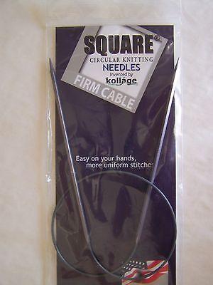 Kollage Square Circular Knitting Needles 24 Firm