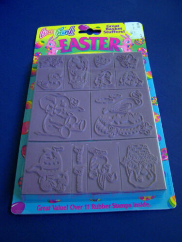 NIP Vintage Lisa Frank EASTER RUBBER STAMPS SET 12 Stamps NEW & SEALED Undated