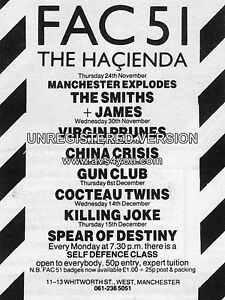 The Smiths / James Hacienda 16