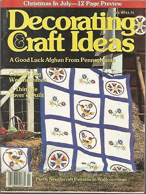 Decorating & Craft Ideas Magazine - July 1983 - Christmas in July and More! - Christmas In July Decorations