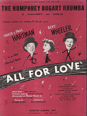 The Humphrey Bogart Rhumba 1949 All For Love Bert Wheeler Sheet Music