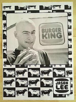 Rocco World Industries Jason Lee Burger King Checkerboard Cow Skateboard Ad
