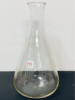 Pyrex Glass 4000ml 4l Erlenmeyer Filter Flask Graduated Standard Bead 5320-4l