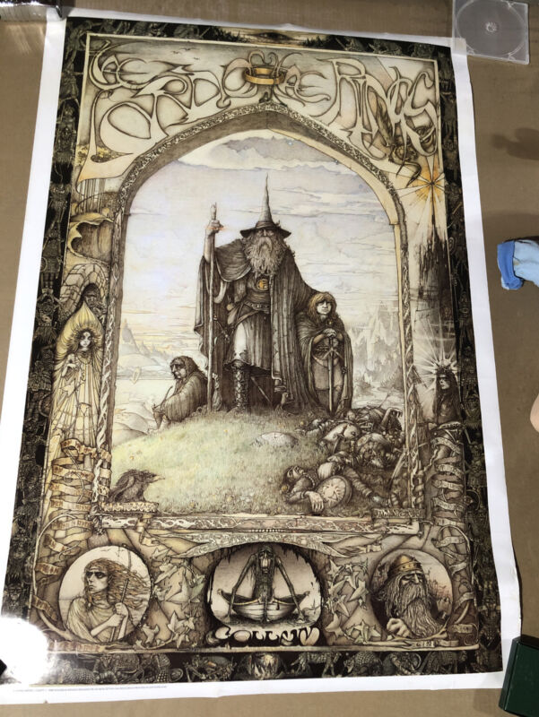 """J. CAUTY Lord Of The Rings POSTER 1988 - 39"""" X 27"""""""