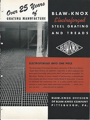 Mro Brochure - Blaw-knox - Electroforged Steel Grating Stair Treads C1952 Mr83