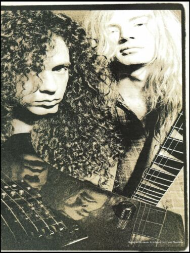 Megadeth Dave Mustaine & Marty Friedman 1992 pin-up photo