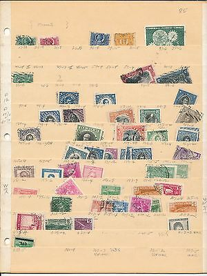 Small Lot of CHILE stamps on 4 stock sheets, some duplication see scans