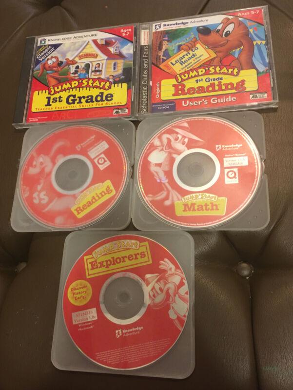 Jump Start 1st Grade Knowledge Adventure Windows / Mac Software Lot Of 5