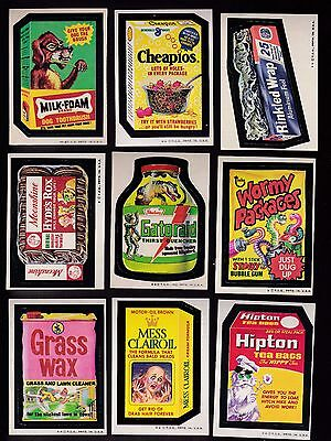 1973 Topps Wacky Packs Series 4 Complete Set w/puzzle 30/30 NM Packages WINDHEX